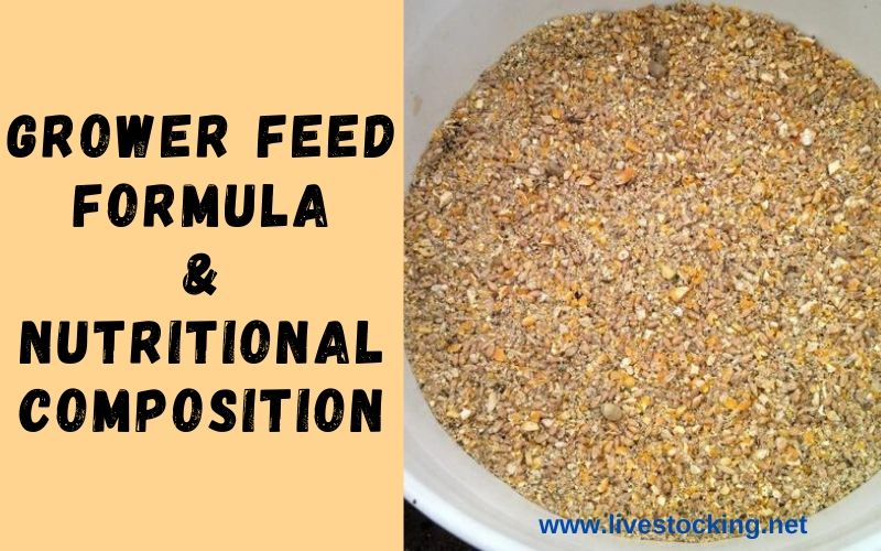 Grower Feed Formula & Nutritional Composition
