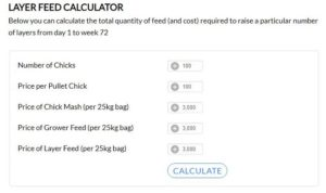 Layer Feed Calculator