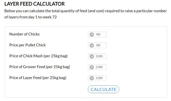 Simple Layer Feed Calculator